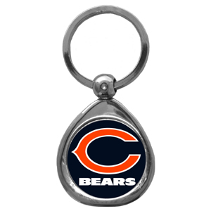 NFL Key Chain - Chicago Bears - Our NFL chrome keychain has a high polish nickel keychain with domed team logo insert. Officially licensed NFL product Licensee: Siskiyou Buckle .com