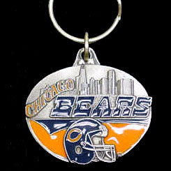 "NFL Team Design Key Ring - Chicago Bears - Chicago Bears team design NFL key chain. Approx. 1 1/4"" Fob. Checkout our entire line of  licensed sports collectibles! Officially licensed NFL product Licensee: Siskiyou Buckle .com"