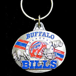 "NFL Team Design Key Ring - Buffalo Bills - Buffalo Bills team design NFL key chain. Approx. 1 1/4"" Fob. Checkout our entire line of  licensed sports collectibles! Officially licensed NFL product Licensee: Siskiyou Buckle .com"