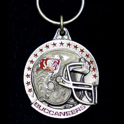 "NFL Team Helmet Key Ring - Tampa Bay Buccaneers - Tampa Bay Buccaneers team helmet on a  NFL key chain. Approx. 1 1/4"" Fob. Checkout our entire line of  licensed sports collectibles! Officially licensed NFL product Licensee: Siskiyou Buckle .com"