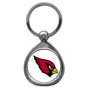 NFL Key Chain - Arizona Cardinals - Our NFL chrome keychain has a high polish nickel keychain with domed team logo insert. Officially licensed NFL product Licensee: Siskiyou Buckle .com