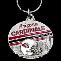 "NFL Team Design Key Ring - Arizona Cardinals - Arizona Cardinals team design NFL key chain. Approx. 1 1/4"" Fob. Checkout our entire line of  licensed sports collectibles! Officially licensed NFL product Licensee: Siskiyou Buckle .com"