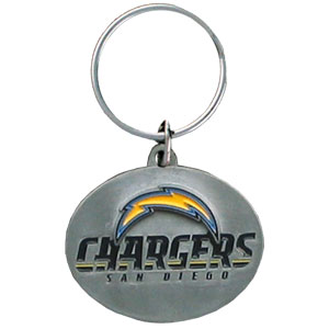 "NFL Design Key Ring - San Diego Chargers - San Diego Chargers team design NFL key chain. Approx. 1 1/4"" Fob. Checkout our entire line of  licensed sports collectibles! Officially licensed NFL product Licensee: Siskiyou Buckle .com"