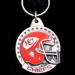 "NFL Team Helmet Key Ring - Kansas City Chiefs - Kansas City Chiefs team helmet on a NFL key chain. Approx. 1 1/4"" Fob. Checkout our entire line of  licensed sports collectibles! Officially licensed NFL product Licensee: Siskiyou Buckle Thank you for visiting CrazedOutSports.com"