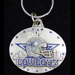 "NFL Key Ring - Dallas Cowboys - Dallas Cowboys team design NFL key chain. Approx. 1 1/4"" Fob. Checkout our entire line of  licensed sports collectibles! Officially licensed NFL product Licensee: Siskiyou Buckle .com"
