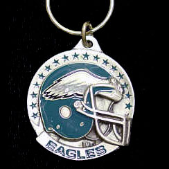 "NFL Helmet Key Ring - Philadelphia Eagles - Philadelphia Eagles team design NFL key chain. Approx. 1 1/4"" Fob. Checkout our entire line of  licensed sports collectibles! Officially licensed NFL product Licensee: Siskiyou Buckle .com"