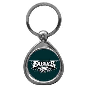 NFL Key Chain - Philadelphia Eagles - Our NFL chrome keychain has a high polish nickel keychain with domed team logo insert. Officially licensed NFL product Licensee: Siskiyou Buckle .com