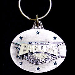 "NFL Design Key Ring - Philadelphia Eagles - Philadelphia Eagles team design NFL key chain. Approx. 1 1/4"" Fob. Checkout our entire line of  licensed sports collectibles! Officially licensed NFL product Licensee: Siskiyou Buckle .com"