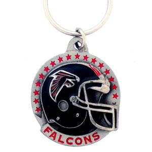 "NFL Helmet Key Ring - Atlanta Falcons - Atlanta Falcons team design NFL key chain. Approx. 1 1/4"" Fob. Checkout our entire line of  licensed sports collectibles! Officially licensed NFL product Licensee: Siskiyou Buckle Thank you for visiting CrazedOutSports.com"