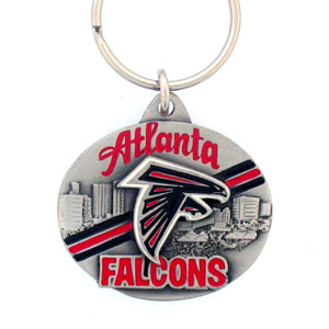 "NFL Key Ring - Atlanta Falcons - Atlanta Falcons team design NFL key chain. Approx. 1 1/4"" Fob. Checkout our entire line of  licensed sports collectibles! Officially licensed NFL product Licensee: Siskiyou Buckle .com"