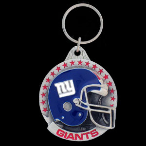 "NFL Helmet Key Ring - New York Giants - New York Giants team design NFL key chain. Approx. 1 1/4"" Fob. Checkout our entire line of  licensed sports collectibles!   Officially licensed NFL product Licensee: Siskiyou Buckle .com"