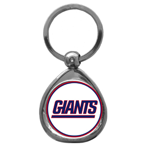 NFL Key Chain - New York Giants - Our NFL chrome keychain has a high polish nickel keychain with domed team logo insert. Officially licensed NFL product Licensee: Siskiyou Buckle .com