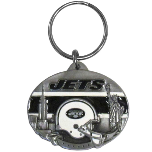 "NFL Design Key Ring - New York Jets - New York Jets team design NFL key chain. Approx. 1 1/4"" Fob. Checkout our entire line of  licensed sports collectibles! Officially licensed NFL product Licensee: Siskiyou Buckle Thank you for visiting CrazedOutSports.com"