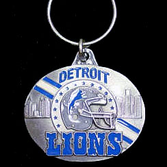 "NFL Design Key Ring - Detroit  Lions - Detroit Lions team design NFL key chain. Approx. 1 1/4"" Fob. Checkout our entire line of  licensed sports collectibles! Officially licensed NFL product Licensee: Siskiyou Buckle .com"