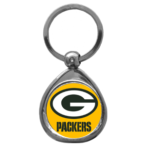 NFL Key Chain - Green Bay Packers - Our NFL chrome keychain has a high polish nickel keychain with domed team logo insert. Officially licensed NFL product Licensee: Siskiyou Buckle .com