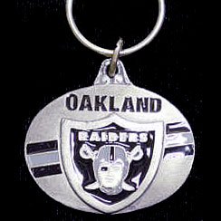"NFL Design Key Ring - Oakland Raiders - Oakland Raiders team design NFL key chain. Approx. 1 1/4"" Fob. Checkout our entire line of  licensed sports collectibles! Officially licensed NFL product Licensee: Siskiyou Buckle Thank you for visiting CrazedOutSports.com"
