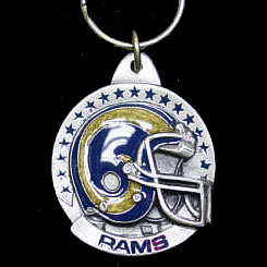 "NFL Helmet Key Ring - St. Louis Rams - St. Louis Rams team design NFL key chain. Approx. 1 1/4"" Fob. Checkout our entire line of  licensed sports collectibles! Officially licensed NFL product Licensee: Siskiyou Buckle .com"