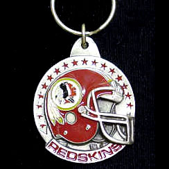 "NFL Helmet Key Ring - Washington Redskins - Washington Redskins team design NFL key chain. Approx. 1 1/4"" Fob. Checkout our entire line of  licensed sports collectibles!  Officially licensed NFL product Licensee: Siskiyou Buckle Thank you for visiting CrazedOutSports.com"