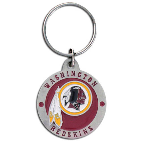 "NFL Key Ring - Washington Redskins  - Our Washington Redskins logo key ring is sculpted in durable zinc. Enameled in vibrant color, they are resistant to dings and dents. Actual size is approximately 1 3/8"" in diameter.  Check out our entire line of  key rings!  Officially licensed NFL product Licensee: Siskiyou Buckle Thank you for visiting CrazedOutSports.com"