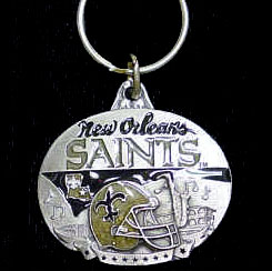 "NFL Design  Key Ring - New Orleans Saints - New Orleans Saints team design NFL key chain. Approx. 1 1/4"" Fob. Checkout our entire line of  licensed sports collectibles! Officially licensed NFL product Licensee: Siskiyou Buckle .com"