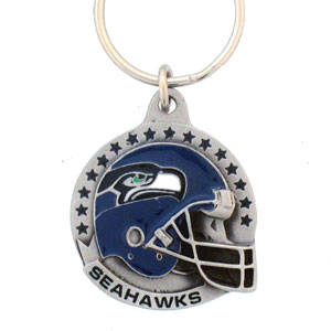 "NFL Helmet Key Ring - Seattle Seahawks - Seattle Seahawks team design NFL key chain. Approx. 1 1/4"" Fob. Checkout our entire line of  licensed sports collectibles! Officially licensed NFL product Licensee: Siskiyou Buckle .com"