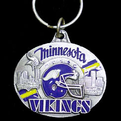 "NFL Design Key Ring - Minnesota Vikings - Minnesota Vikings team design NFL key chain. Approx. 1 1/4"" Fob. Checkout our entire line of  licensed sports collectibles! Officially licensed NFL product Licensee: Siskiyou Buckle .com"