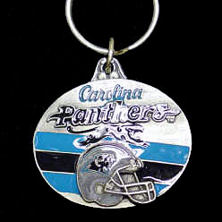 """NFL Design Key Ring - Carolina Panthers - Carolina Panthers team design NFL key chain. Approx. 1 1/4"""" Fob. Checkout our entire line of  licensed sports collectibles! Officially licensed NFL product Licensee: Siskiyou Buckle Thank you for visiting CrazedOutSports.com"""