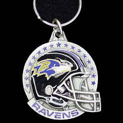 "NFL Helmet Key Ring - Baltimore Ravens - Baltimore Ravens team design NFL key chain. Approx. 1 1/4"" Fob. Checkout our entire line of  licensed sports collectibles! Officially licensed NFL product Licensee: Siskiyou Buckle Thank you for visiting CrazedOutSports.com"