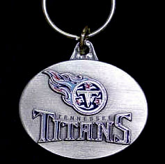 "NFL Design Key Ring - Tennessee Titans - Tennessee Titans team design NFL key chain. Approx. 1 1/4"" Fob. Checkout our entire line of  licensed sports collectibles! Officially licensed NFL product Licensee: Siskiyou Buckle .com"