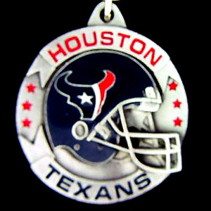 "NFL Helmet Key Ring - Houston Texans - Houston Texans team design NFL key chain. Approx. 1 1/4"" Fob. Checkout our entire line of  licensed sports collectibles! Officially licensed NFL product Licensee: Siskiyou Buckle .com"