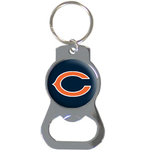 NFL Bottle Opener Key Ring - Chicago Bears - This key ring features a built in bottle opener and NFL logo. Check out our entire line of  key rings! Officially licensed NFL product Licensee: Siskiyou Buckle .com