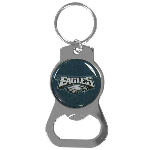 NFL Bottle Opener Key Ring - Philadelphia Eagles - This key ring features a built in bottle opener and NFL logo. Check out our entire line of  key rings! Officially licensed NFL product Licensee: Siskiyou Buckle .com