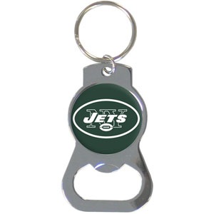 NFL Bottle Opener Key Ring - New York Jets - This key ring features a built in bottle opener and NFL logo. Check out our entire line of  key rings! Officially licensed NFL product Licensee: Siskiyou Buckle Thank you for visiting CrazedOutSports.com