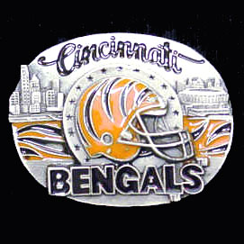 NFL 3D Magnet - Cincinnati Bengals - Our NFL team magnets feature great detail and a hand enameled finish. A must have for any Cincinnati Bengals fan! Check out our extensive line of  NFL merchandise! Officially licensed NFL product Licensee: Siskiyou Buckle .com