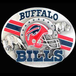 NFL 3D Magnet - Buffalo Bills - Our NFL team magnets feature great detail and a hand enameled finish. A must have for any Buffalo Bills fan! Check out our extensive line of  NFL merchandise! Officially licensed NFL product Licensee: Siskiyou Buckle .com