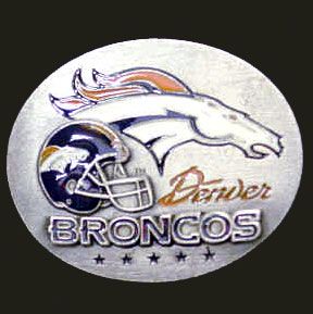 NFL 3D Magnet - Denver Broncos - Our NFL team magnets feature great detail and a hand enameled finish. A must have for any Denver Broncos fan! Check out our extensive line of  NFL merchandise! Officially licensed NFL product Licensee: Siskiyou Buckle Thank you for visiting CrazedOutSports.com