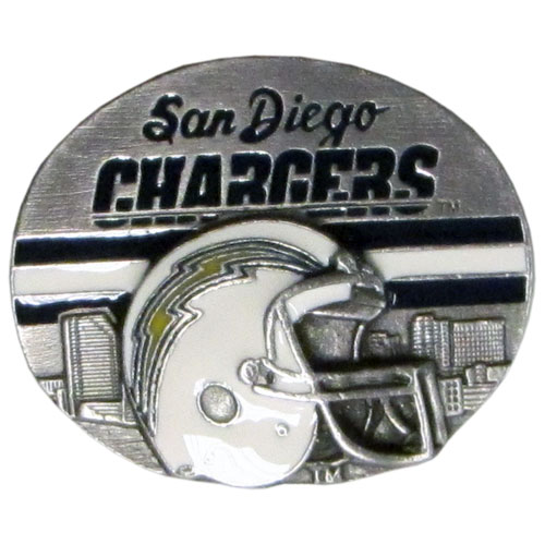 NFL 3D Magnet - San Diego Chargers - Our NFL team magnets feature great detail and a hand enameled finish. A must have for any San Diego Chargers fan! Check out our extensive line of  NFL merchandise! Officially licensed NFL product Licensee: Siskiyou Buckle .com