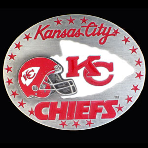 NFL 3D Magnet - Kansas City Chiefs - Our NFL team magnets feature great detail and a hand enameled finish. A must have for any Kansas City Chiefs fan! Check out our extensive line of  NFL merchandise! Officially licensed NFL product Licensee: Siskiyou Buckle Thank you for visiting CrazedOutSports.com