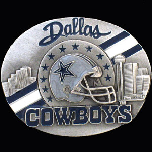 NFL 3D Magnet - Dallas Cowboys - Our NFL team magnets feature great detail and a hand enameled finish. A must have for any Dallas Cowboys fan! Check out our extensive line of  NFL merchandise! Officially licensed NFL product Licensee: Siskiyou Buckle Thank you for visiting CrazedOutSports.com