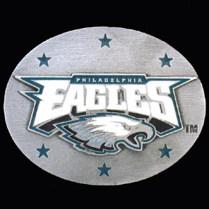 NFL 3D Magnet - Philadelphia Eagles - Our NFL team magnets feature great detail and a hand enameled finish. A must have for any Philadelphia Eagles fan! Check out our extensive line of  NFL merchandise! Officially licensed NFL product Licensee: Siskiyou Buckle .com