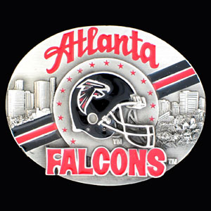NFL 3D Magnet - Atlanta Falcons - Our NFL team magnets feature great detail and a hand enameled finish. A must have for any Atlanta Falcons fan! Check out our extensive line of  NFL merchandise! Officially licensed NFL product Licensee: Siskiyou Buckle .com