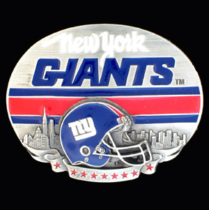 NFL 3D Magnet - New York Giants - Our NFL team magnets feature great detail and a hand enameled finish. A must have for any New York Giants fan! Check out our extensive line of  NFL merchandise! Officially licensed NFL product Licensee: Siskiyou Buckle Thank you for visiting CrazedOutSports.com