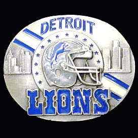 NFL 3D Magnet - Detroit Lions - Our NFL team magnets feature great detail and a hand enameled finish. A must have for any Detroit Lions fan! Check out our extensive line of  NFL merchandise! Officially licensed NFL product Licensee: Siskiyou Buckle .com