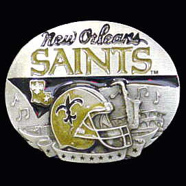 NFL 3D Magnet - New Orleans Saints - Our NFL team magnets feature great detail and a hand enameled finish. A must have for any New Orleans Saints fan! Check out our extensive line of  NFL merchandise! Officially licensed NFL product Licensee: Siskiyou Buckle Thank you for visiting CrazedOutSports.com