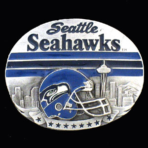 NFL 3D Magnet - Seattle Seahawks - Our NFL team magnets feature great detail and a hand enameled finish. A must have for any Seattle Seahawks fan! Check out our extensive line of  NFL merchandise! Officially licensed NFL product Licensee: Siskiyou Buckle Thank you for visiting CrazedOutSports.com