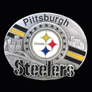 NFL 3D Magnet - Pittsburgh Steelers - Our NFL team magnets feature great detail and a hand enameled finish. A must have for any Pittsburgh Steelers fan! Check out our extensive line of  NFL merchandise! Officially licensed NFL product Licensee: Siskiyou Buckle Thank you for visiting CrazedOutSports.com
