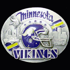 NFL 3D Magnet - Minnesota Vikings - Our NFL team magnets feature great detail and a hand enameled finish. A must have for any Minnesota Vikings fan! Check out our extensive line of  NFL merchandise! Officially licensed NFL product Licensee: Siskiyou Buckle Thank you for visiting CrazedOutSports.com