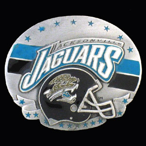 NFL 3D Magnet - Jacksonville Jaguars - Our NFL team magnets feature great detail and a hand enameled finish. A must have for any Jacksonville Jaguars fan! Check out our extensive line of  NFL merchandise! Officially licensed NFL product Licensee: Siskiyou Buckle Thank you for visiting CrazedOutSports.com