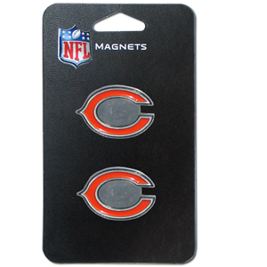 NFL Magnet Set - Chicago Bears - Our NFL magnet set comes with 2 finely detailed zinc magnets that are hand enameled featuring your favorite NFL team's logo. Check out our entire line of  gifts! Officially licensed NFL product Licensee: Siskiyou Buckle .com