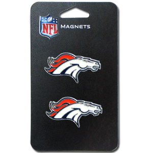 NFL Magnet Set - Denver Broncos - Our NFL magnet set comes with 2 finely detailed zinc magnets that are hand enameled featuring your favorite NFL team's logo. Check out our entire line of  gifts! Officially licensed NFL product Licensee: Siskiyou Buckle Thank you for visiting CrazedOutSports.com